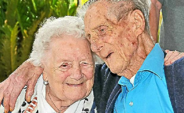 Muriel and Victor Humphrey celebrate their 72nd wedding anniversary.