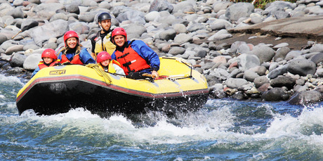 Kirsty Wynn and her family take on the Taupo Family Float, an inflatable boat ride down the lower stretches of the Tongariro River.