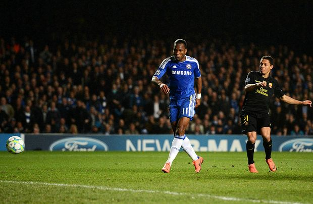 Chelsea will look to veteran striker Didier Drogba (left) to lead the line against Bayern Munich in the final of the European Champions League.