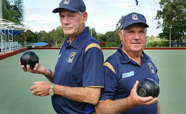 Tom McCrae and Peter Stephensen are organising a fundraiser at the Doon Villa Bowls Club in Maryborough for the Men Of League Foundation.