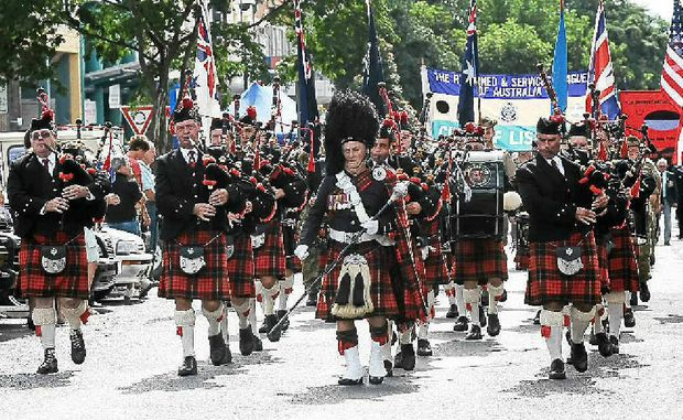 The Lismore City Pipe band has lead Lismore's Anzac Day march since 1948.