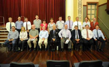 Maryborough Council candidates in the Maryborough Town Hall.