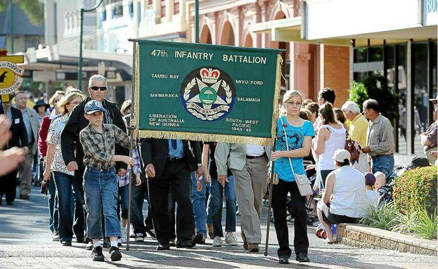 Head to Bundaberg's CBD on Anzac Day morning.
