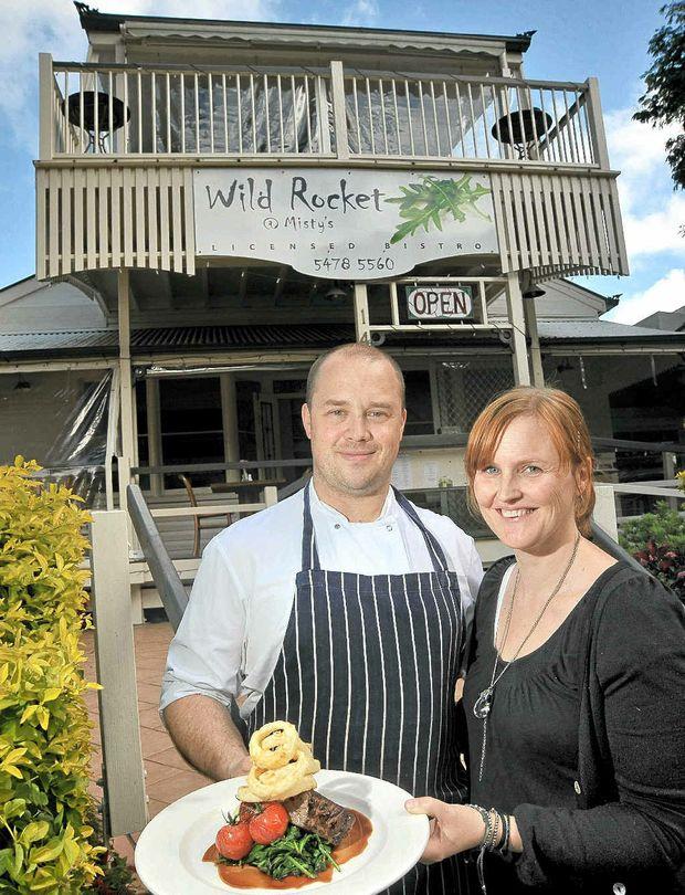 NATURALLY GOOD: Peter and Belinda Brettell, from Wild Rocket @ Misty's, Montville.