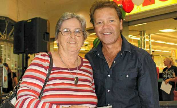 Warwick woman Margaret Snip met Country star Troy Cassar-Daley at Rose City Shoppingworld.