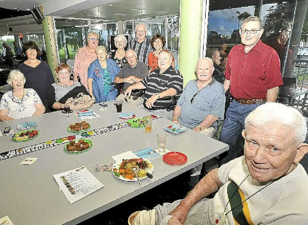 Reg Baxter meets with friends once a month at the Lismore Workers Sports Club at Goonellabah.
