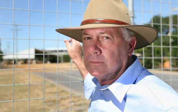 Brad Keyworth is angry that Beef Australia 2012 organisers removed 100-year-old bougainvillea bushes to make way for a temporary pavilion.