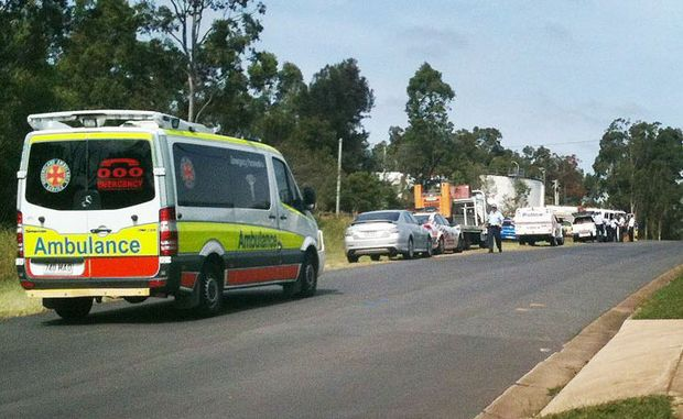 The scene of the siege at Redbank Plains.