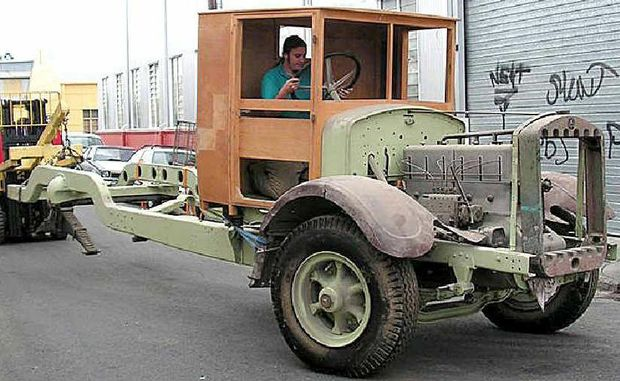 The truck that was being restored by the Gatton Men's Shed project.