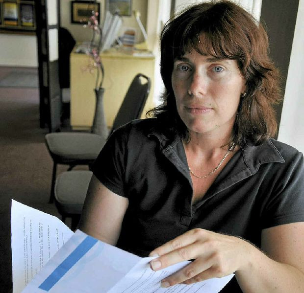 ARMED ROBBERY VICTIM: ME-N-U Catering co-owner Laureen Scrivener is angry Toowoomba Regional Council has refused to waive a $40 parking ticket.