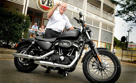 Trevor Ansell picked up the keys to his very own Harley-Davidson yesterday at his local hotel.