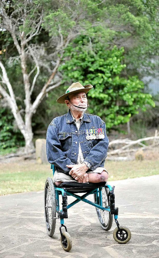 Veteran Len Usher who served with the 2RAR in Malaya.
