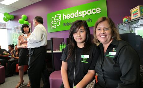 Michelle Tran and Kathy Smith at the opening of Headspace, Inala.