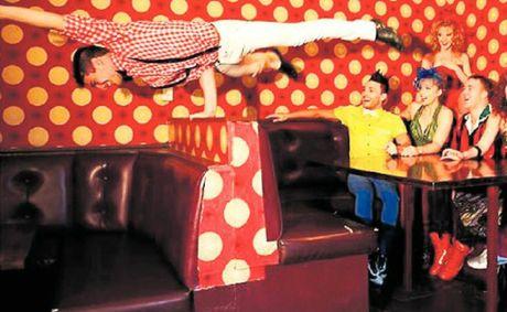 Daniel O'Brien (balancing) and acrobatic dance troup Circotic impressed judges on Australia's Got Talent.