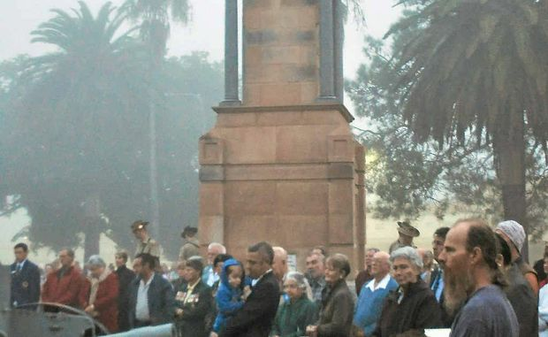 Commemorators from around Warwick gathered at the crack of dawn to pay their respects to Australian's servicemen and women at the cenotaph in Leslie Park.