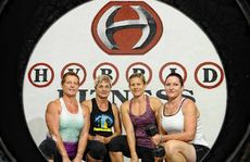 Ann Pursey, Lisa Greedy, Chrissy Hancock and Susan Polsen training with Hybrid Fitness Grafton to prepare for the Tough Mudder challenge in Gosford on September 22.