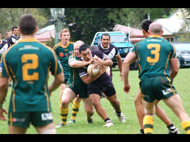 Jerry Key takes a hit-up for Bellinger Valley-Dorrigo Magpies against Orara Valley.