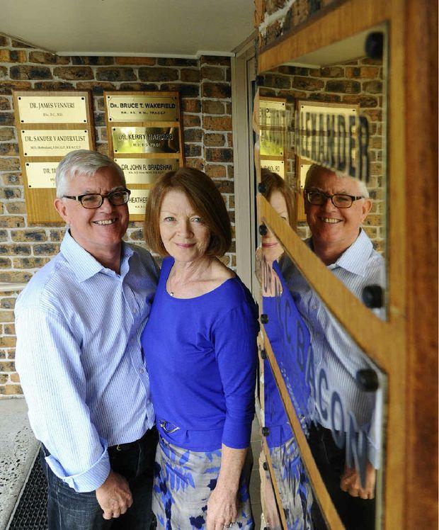 Queen Street Clinic doctors Nigel Bacon and Judith Alexander are retiring.