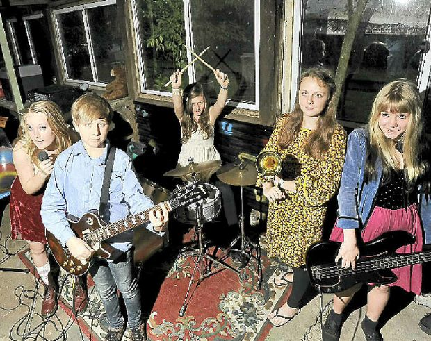(from left) Demi Dhondt, Fraser Bell, Charly Bear, Chloe Crossing, Ella Noble will be playing at Crankfest.