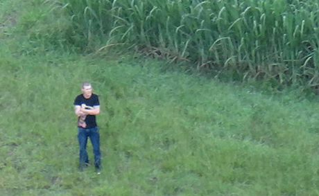 Charles Beavis was spotted in a cane field after a collision on Sandy Creek Bridge. He faces sentencing today after pleading guilty in Mackay Magistrate's Court to drink-driving and driving without due care and attention.