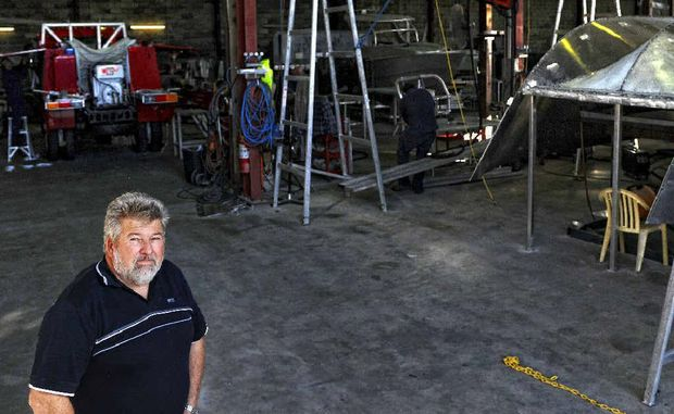 Yamba Welding and Engineering owner Bill Collingburn in the workshop which is undertaking a massive scale of operations. Yamba Welding and Engineering is contracted for jobs for the Victorian Police, NSW Marine Rescue and Armidale airport – to name just a few.