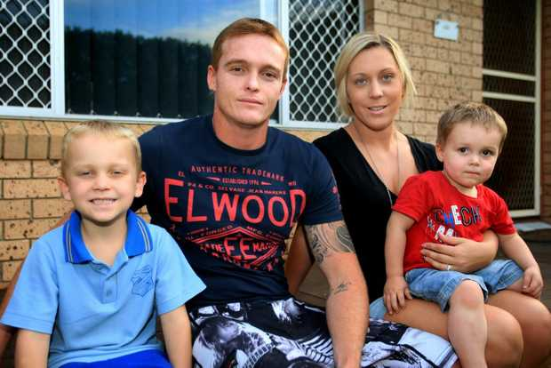 "West Tweed residents Jai, Mark, Michelle and Taj Boman say money has been ""tight"" at home and they're keen for the rate cut to be passed on."
