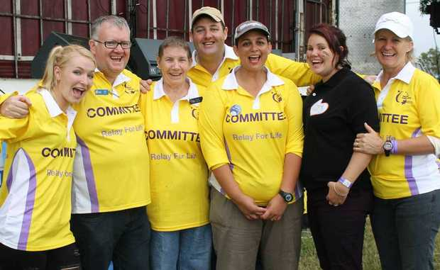 TEAM EFFORT: Whitsunday Relay For Life committee members Nina Wilson, Jeff Hardie, Edith Forse, Andrew Barker, Wendy Barker, Lulu Simpson and Jen Dray put in a tremendous effort to co-ordinate this year's charity fundraiser.