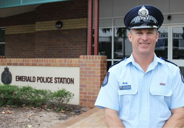 TOP COP: Senior Sergeant Peter McFarlane is the new officer-in-charge at the Emerald Police Station and said his first week in town was a baptism of fire. Photo: Rebekah Polley EME240412pmcfarlane002
