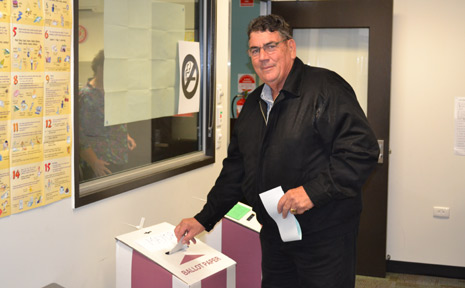 ALL BEFORE HIM: Graeme Lehmann was returned as Mayor of the Somerset Regional Council after the weekend elections.