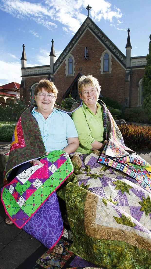 St Paul's Quilt and Craft Show organisers Karen Heck (left) and Verna Hunt.