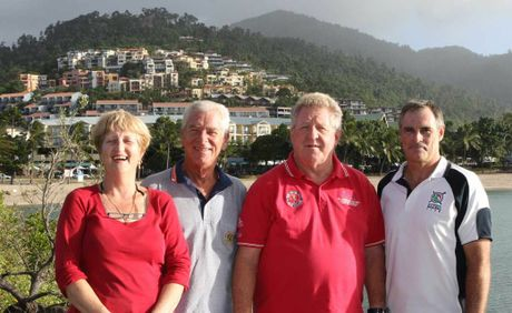 SEEKING SUPPORT: WSC manager Angela Rae, president Jeff Brown, ABRW regatta director Denis Thompson and WSC commodore Rob Davis are asking the community to support Race Week, which is argua