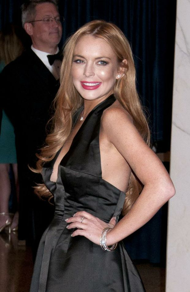 Lindsay Lohan at the White House Correspondents' Association dinner.