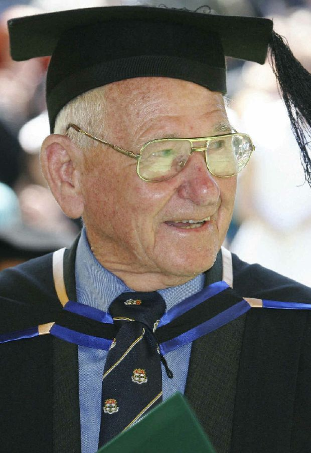 Allan Stewart in 2010 graduating from a Bachelor of Law at Southern Cross University.