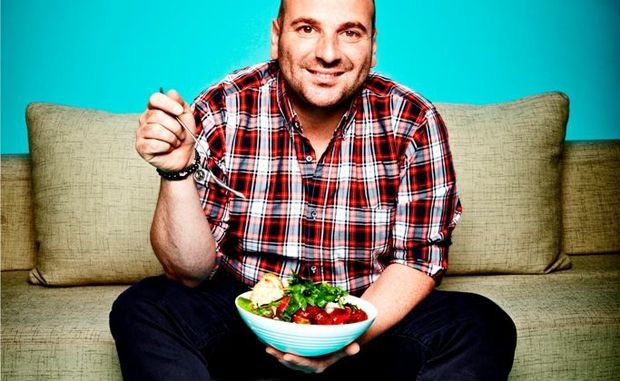 George Calombaris co-hosts MasterChef Australia.