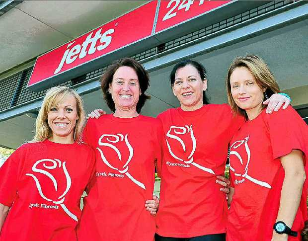 Donna O'Neill, Tracy Blayney, Sonia Pinwill and Laura Stoll are raising funds for cystic fibrosis through a relay event at Jetts Peregian Springs.
