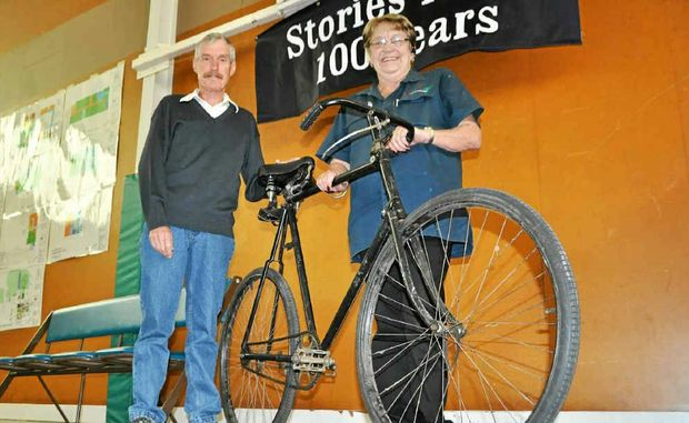 Ed Diery and Ros Keim will see their grandfather's bike on display as part of the Warwick State High School centenary celebrations.