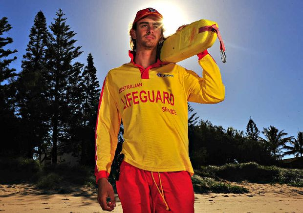 SEE YOU IN SPRING: Surf Lifesaver Chris Steffan looks over Kelly's Beach on his last patrol of the season.