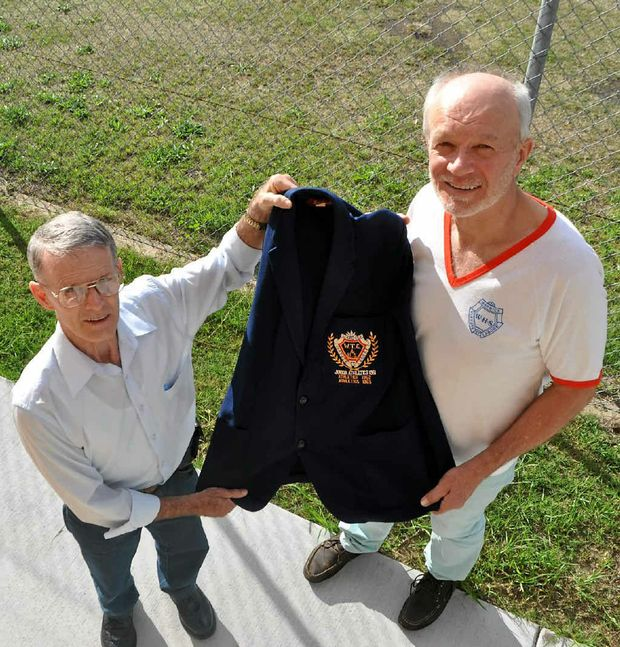 The Warwick State High School centenary has reunited old friends Rick Telford and John Baart after 48 years.