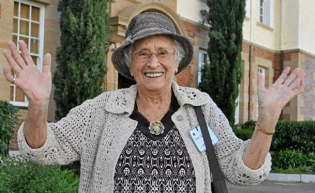 Past student Iris Cantor returned to Warwick State High School after 80 years to help celebrate the centenary.