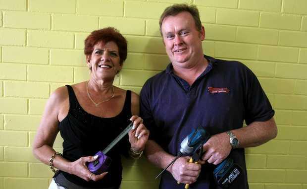 Karen Cranwell and Bill Larkin preparing Cabarita Youth Service's new premises.