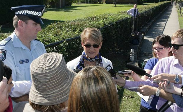 Investigating officer senior sergeant David Crawford-Raby and St Columban's College principal Ann Rebgetz speak about an incident which took place at the school.