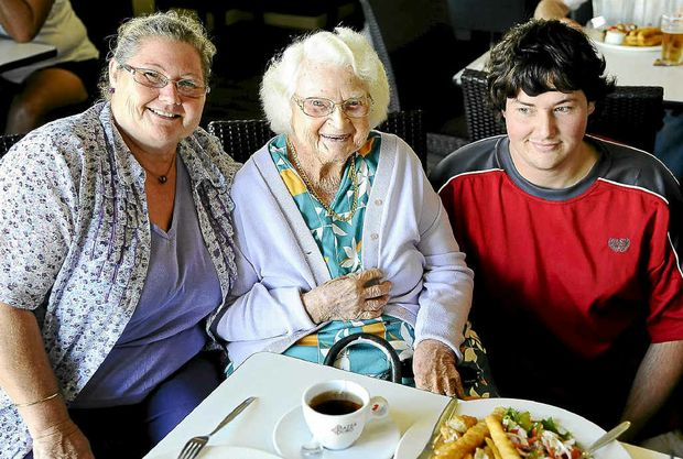 Taking Melba Foxover, 86, out for lunch were daughter Ruby Davis and grandson Clinton Davis.