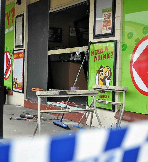 A Warwick man was given three stolen bottles of rum after accepting a ride in a car used in a ram raid on a Warwick bottle shop.