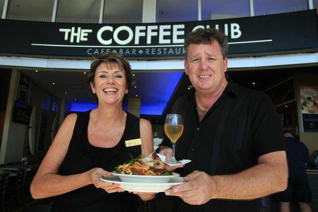 Julie-Anne Lean and Russell Billson at Coolangatta Coffee Club.