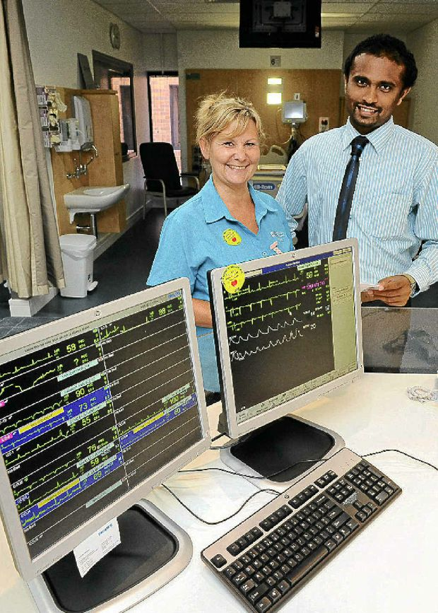 Coronary Care Unit registered nurse Lynn Leisk and Dr Geeth Weerasooriya are pleased with the announced Federal Government funding to upgrade cardiac services.