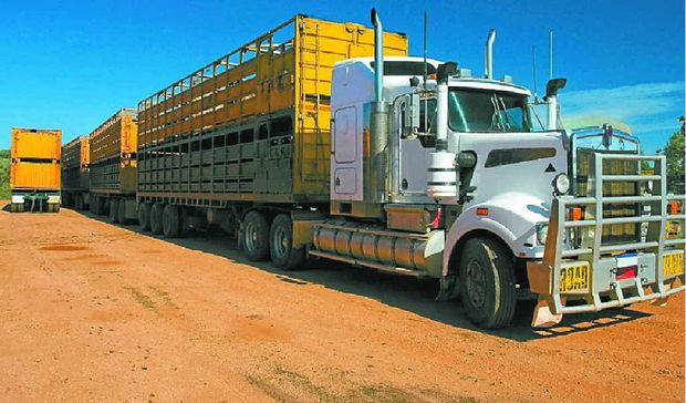 ROLLING ALONG: Research shows road trains with tri-axle dollies are more controllable at higher speeds.""