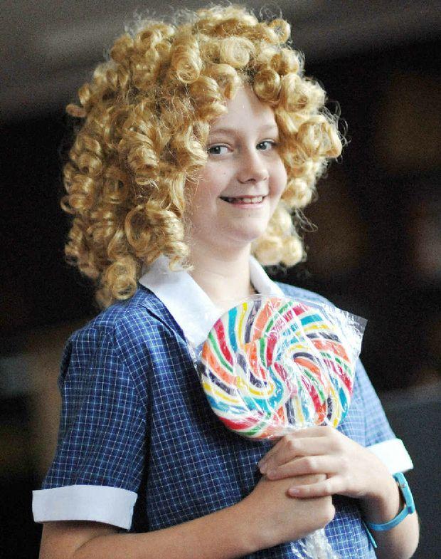 Madeleine Krebs prepares to perform at the speech and drama eisteddfod.