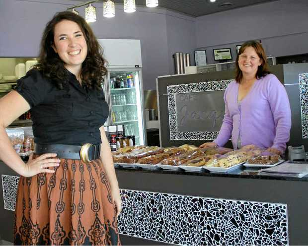 Comedian Tessa Waters and Cafe Jacqui's owner Jacqui Dwan will host a dinner and show evening.