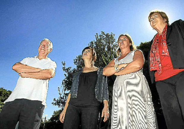 Fingal residents Paul Fagan, Dawn Walker, Karen Morrison and Helen Twohill are annoyed about flight noise.