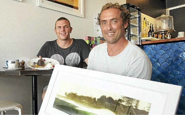 Tweed Coast business owners Paget Thompson and Sean Roughan are joining forces to support Dunecare.